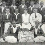 KWAME NKRUMAH, seated first on the left, with his fellow students of Aggrey House at Achimota College in 1929